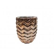 Cachepot Vaso Cachepot Rose Porcelana Cobre Espelhado Importado