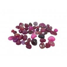 Agata Cereja Rosa Pedra Rolada Semi Preciosa