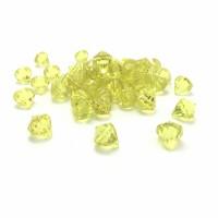Cristal Acrilico Diamante Amarelo Decoração Arranjos