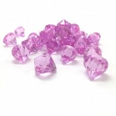 Cristal Acrilico Diamante Rosa Claro Decoração Arranjos