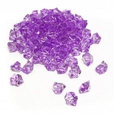Cristal Acrilico Pedra De Gelo Lilás Claro Decoração