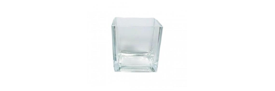 Vaso Vidro Importado 10cm X10cm Transparente Vidro 5mm