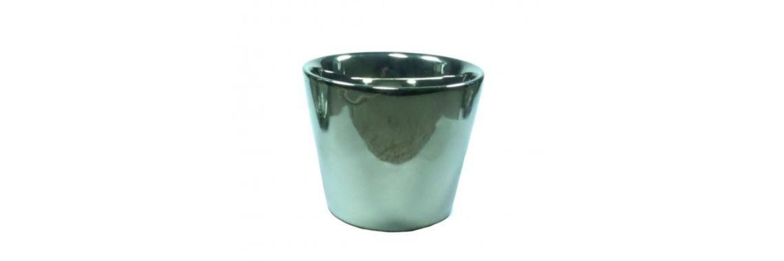Vaso Cerâmica Espelhado 10cm x 11,5cm Importado