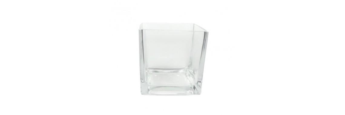 Vaso Vidro Importado 12cm X 11,5cm Transparente Vidro 5mm